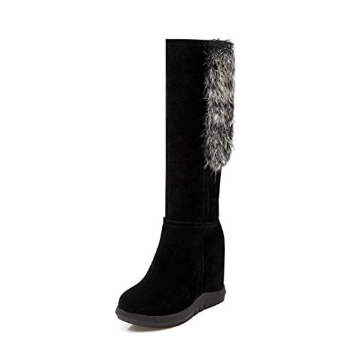 Scarpe Autunno E Inverno Europa E Stati Uniti Semplice Elegante Confortevole Lungo Tubo Scarpe Da Neve Scarpe Da Donna Black