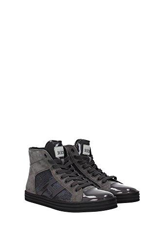 HXW1410801425Q372B Hogan Sneakers Damen Lackleder Grau Grau
