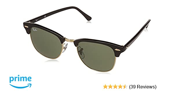 b5ada256b1 ... where can i buy ray ban clubmaster rectangular sunglasses black w0365  ebony arista ray ban amazon