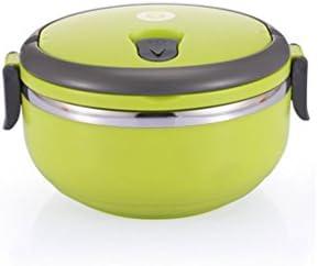 CS Boîte à lunch lunch lunch de conservation de la chaleur Boîte scellée Étanche à la main Étanche à une couche Boîte à lunch Plain Box en acier inoxydable ( Color : Green ) c5e989