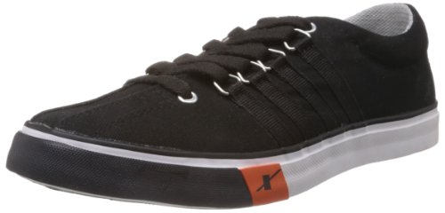 Sparx Men's Black Canvas Sneakers - 8 UK