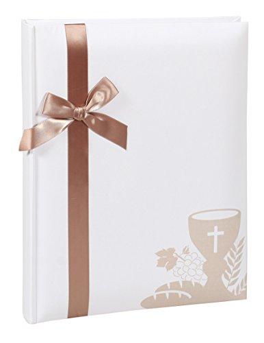 Kommunion Konfirmation Fotoalbum in 22x27 cm 40 weiße Seiten Foto Album: Farbe: Gold