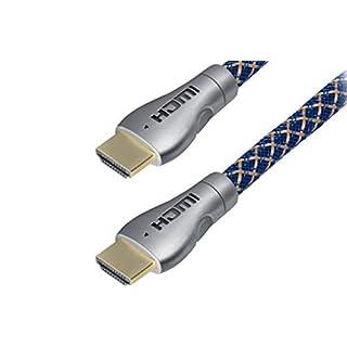 SAT-FOX Câble HDMI 2.0 HDMI Haute Vitesse avec Ethernet, UHD 4K, HDR, 3D, Arc, Full HD 1080P, CEC, rétrocompatible, Blue Ray Player, Consoles de Jeux, etc. 1 m