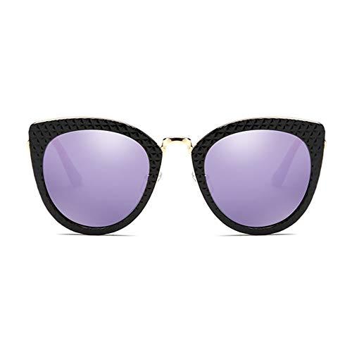 Farbfilm Polarisierten Sonnenbrillen Weiblichen Großen Rahmen Anti-UV-Anti-Glare, Geeignet Für Dekorative Reisen Fahren, Verweigert Eindruck Und Komfortabel Zu Tragen. (Color : Purple)