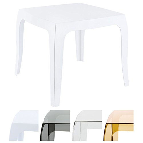 CLP Design-Kunststofftisch Queen I Pflegeleichter quadratischer Beistelltisch I Wetterbeständiger Outdoor-Tisch
