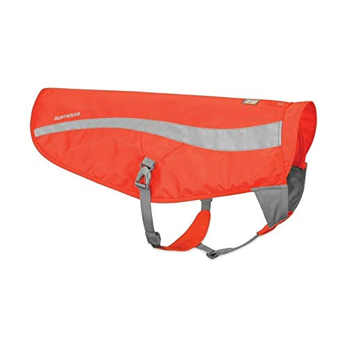 Ruffwear Sicherheitsjacke für Hunde, Hohe Sichtbarkeit, Reflektierend, Jagd- und Arbeitshunde, Kleine bis mittelgroße Hunderassen, Größe: S/M, Orange (Blaze Orange), Track Jacket, 55202-850SM