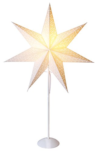 "Star Standleuchte Stern\""Dot Star on base\""Material Metall/Papier, Vierfarb-Karton, 75 x 53 cm, weiß 234-58"