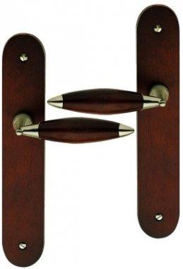 poignee-de-porte-interieure-design-en-bois-havane-sur-plaque-bdc-entraxe-195-mm-athena