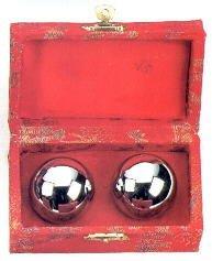 Qi Gong Kugeln -Klangkugeln Chrom / silberfarben, ca. 3,5 cm Durchmesser