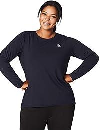 688d5dcd18 Zizzi Damen Sportshirt Langarm Fitnesshirt Sportbekleidung, Große Größen ...