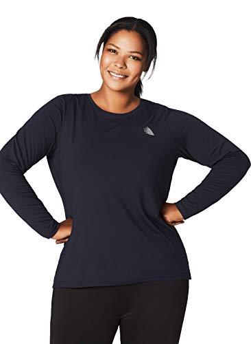 Zizzi ABASIC Damen T-Shirt für Sport & Freizeit Langarm Sporttop Quick Dry Fitness, Große Größen 42-56 -
