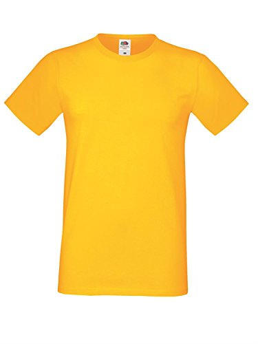 Fruit of the Loom Herren Sofspun T-Shirt - Erhältlich in 10 Farb - Sunflower - L (T-shirt Surf-gelb)