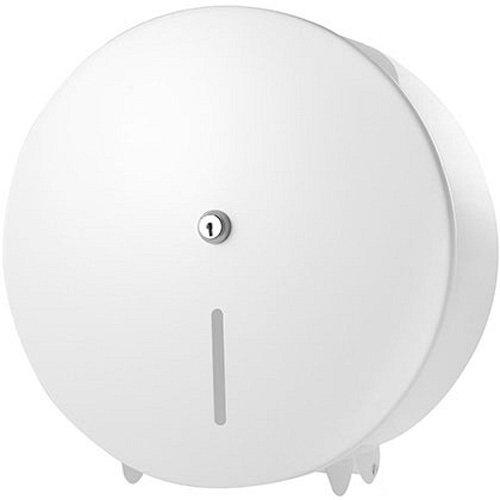 C21 Hygiene C21WMD02 Metal Jumbo Toilet Roll Dispenser, White