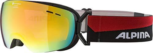 Alpina Erwachsene Granby S QMM Skibrille, black matt, One Size