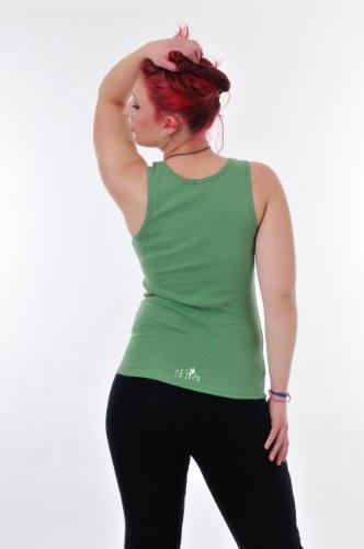 Débardeur Femme Haut - Tank Top avec laisser de fée - simple Tanktop - coton Vert