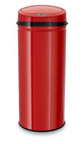 ECHTWERK EW-AE-0250 Design Abfalleimer 42 L mit IR Sensor - INOX, Edelstahl, rot