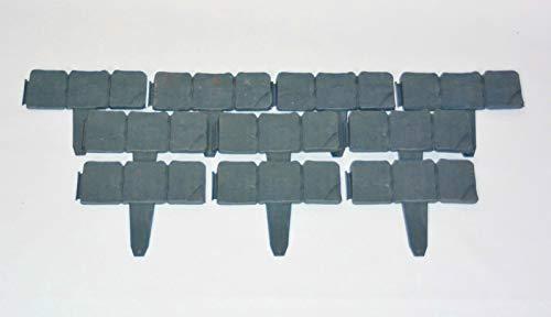 Zaun-Nagel Rasenkante 10 cm x 250 cm Steinoptik Abschlusskante Beettrenner