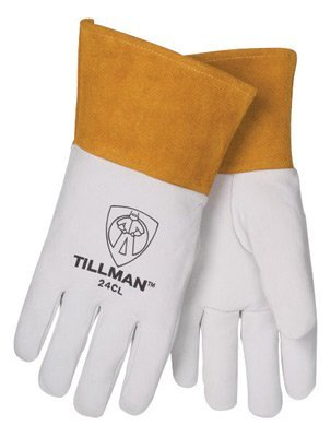 Tillman X-Large Pearl Top Grain Kidskin Unlined Premium Grade TIG Welders Gloves With Straight Thumb, 4 Cuff And Kevlar Lock Stitching by John Tillman and Co (Top-grain-pearl)