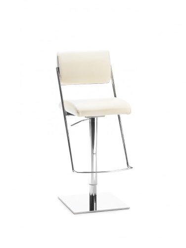 Mayer Sitzmöbel Barhocker Tresenhocker JET LINE LIFT 1245 Sitz-/Rücken Bezug Echt Leder Gestell chrom Sitz-/Rücken Echt Leder 81007