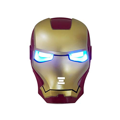 SSRS Avengers Iron Man American Captain Raytheon Spider-Man Glühender Masken held Cosplay Geburtstagsgeschenk Party Halloween (Color : B)