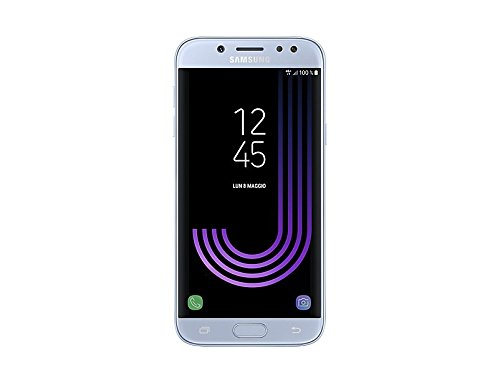 Samsung Galaxy J5 (2017) Smartphone, Blue Silver, 16 GB Espandibili, Mono SIM [Versione Italiana]