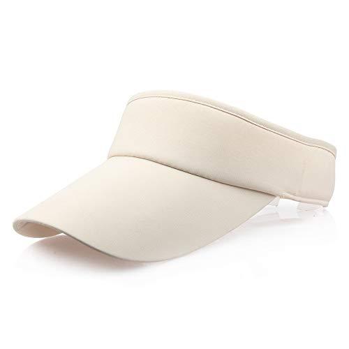 Auied Unisex Sport Stirnband Classic Sun Sports Visor Hat Cap Baumwolle Baumwollvisor Sonnenschutz Blendschutz Sonnenschutz Mit ()