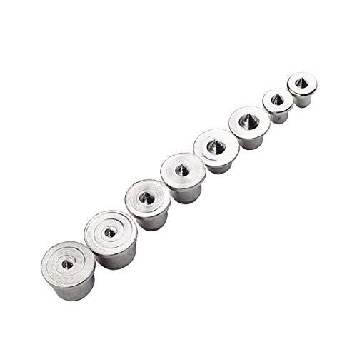 8 piezas. Puntas de centrado para tacos de madera