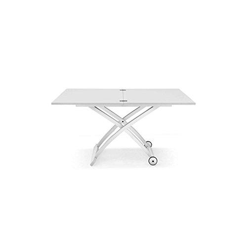 Tavolo trasformabile e regolabile Mascotte Calligaris - Bianco ottico opaco