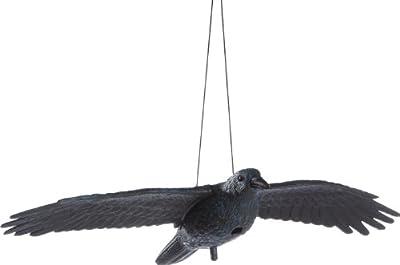 Brema 140517 Rabe, fliegend aus Kunststoff mit Stab und Aufhängung von BREMA bei Du und dein Garten