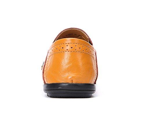 Gaatpot Hommes Casual Chaussures Bateau Loafers Plats Conduite Mocassins Jaune