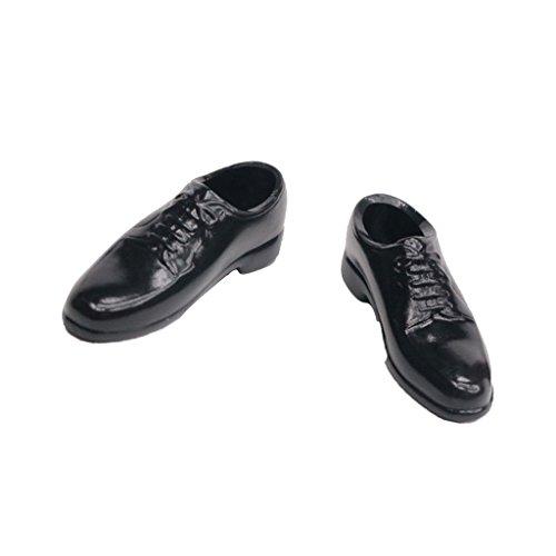 Schwarze Herren 1/6 Schnüren Sich Oben Schuhe Für 12 \