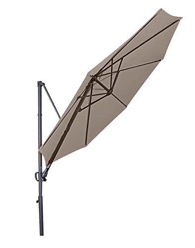 """Doppler Hochwertiger Ampelschirm """"Ravenna 300"""" in greige, neigbar, 360 Grad drehbar, UV-Schutz 50 PLUS,"""