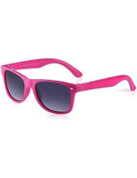 miuno® Gafas de sol infantiles polarizado dual-polarized Wayfare funda para niños y niñas 6833a rosa rosa