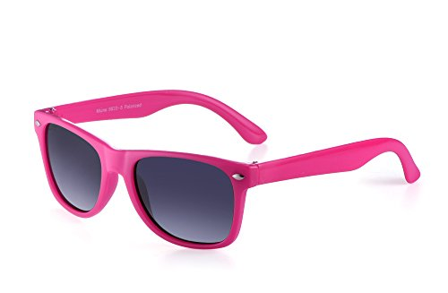 Miuno® Kinder Sonnenbrille Polarisiert Polarized Wayfare Etui 6833a (Pink)