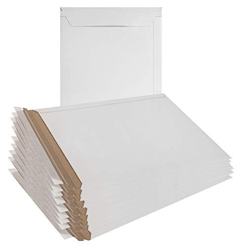 10Stück mailjackets starrer Versandtaschen 9x 11,5groß Karton Umschläge 9x 111/2. Stay flach, Karton, No Bend Versandtaschen. schälen und Seal. Großhandelspreis. - Photo Pack Tinte
