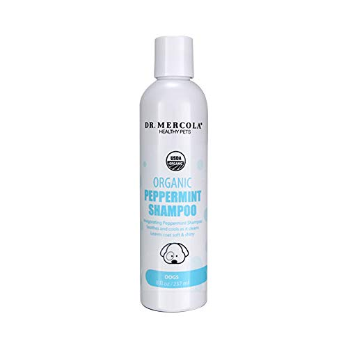 Dr. Mercola Organic Peppermint Shampoo for Dogs - Invigorating Peppermint Shampoo - Soothes And Cools As It Cleans - Leaves Coat Soft & Shiny - Made In The USA - 8 oz by Dr. Mercola