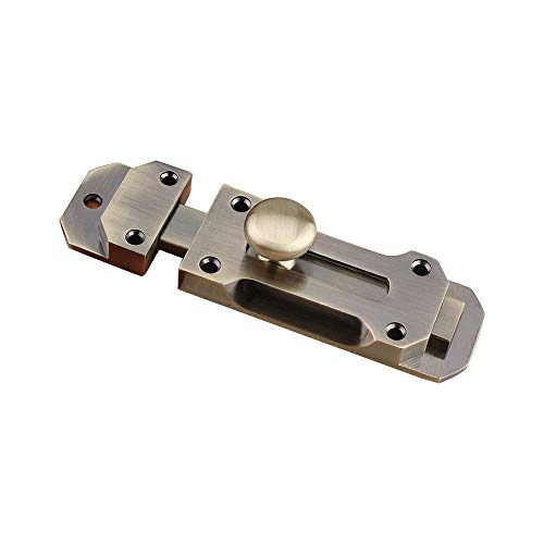 LEEQ 1pc Retro Dick Barrel Slide Door Schrauben Heavy Duty Gate Sicherheit Lock Verriegelung Guard Bronze(Bronze )