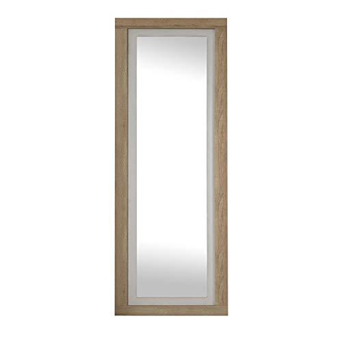 Duehome HomeSouth - Espejo de Pared, Mural con Luna Modelo Lara, Acabado en Color Cambria y Blanco...
