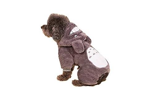 BACKSPORT 1x dicke Hund Katze Huastier Hoodies Kostüm Cosplay Jacke Mantel Hundemantel Hundebekleidung für Kleine Hunde (S, grau (Kleiner Hund Kostüme)