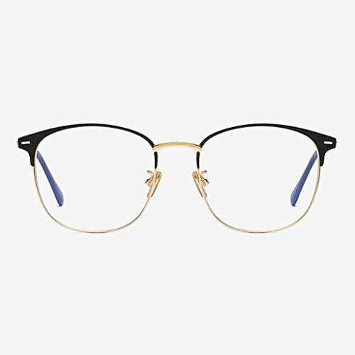 Brillen Anti-Blue-Light Moderne Einfachheit Schutzbrille für Computer/Telefon Besserer Schlaf [Anti-Augenermüdung] Unisex (Männer/Frauen) Wddwarmhome (Farbe : Gold)
