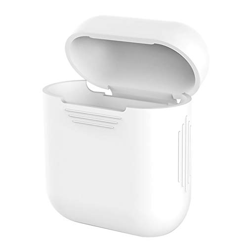 VEVICE custodia in silicone per Airpods ricarica box, iPhone x cuffia auricolare Bluetooth box anti-urto custodia protettiva casi case accessori (bianco)