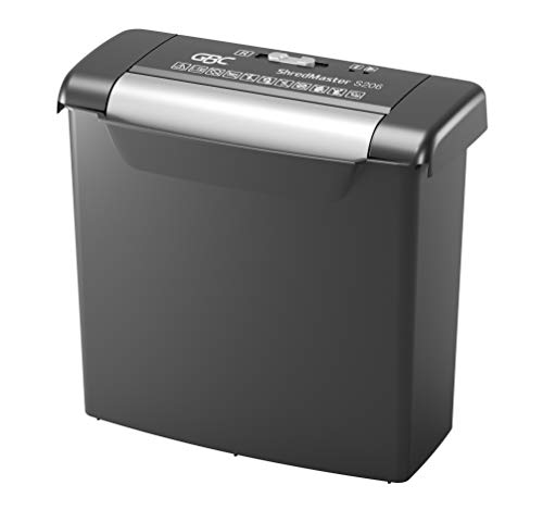 GBC ShredMaster S206 Paper Straight Cut Personal/Home Office Shredder with 6 Sheet Capacity and 9L Bin