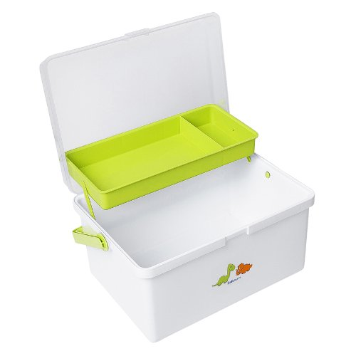 Safetots Dinosaur Baby Box Organiser White Lime Test