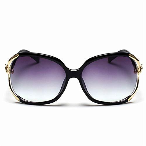 Sonnenbrillen, Weibliche Mode Übergrosse Sonnenbrille Frauen Rahmen Kunststoff Sonnenbrille Outdoor Reisen Fahren Sonnenbrillen Brillen Uv 400 Schwarz Rahmen Gold Rim Farbverlauf Lila Objektiv