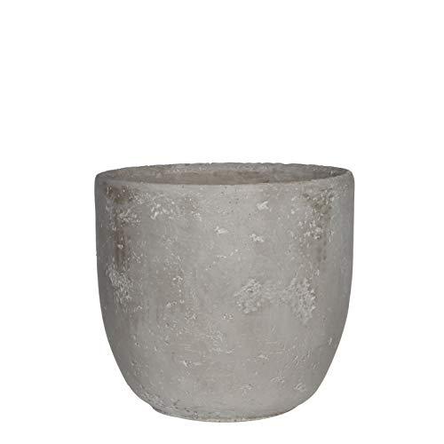 Edelman Blumenkübel in Beton-Optik grau, Blumentopf (Ø18 cm x H 19 cm), Übertopf, Vase