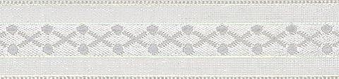 Club Green Kreuz Muster Schleife, Weiß, 15mm x 10m