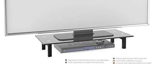 RICOO TV Ständer Monitorständer Bildschirmständer Podest FS6028B Universal Standfuß Rack Fernsehständer LCD QLED QE 4K LED OLED IPS SUHD UHD 3D Curved/ 76cm/30-107/42