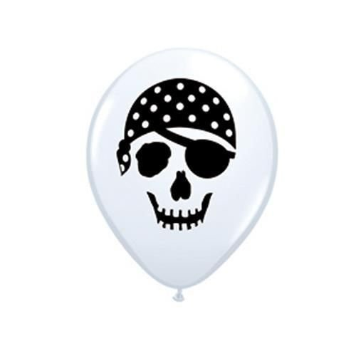 Pirat Skull Totenkopf Face 12,7 cm Qualatex Latex Ballons x 10