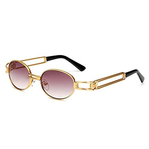 Metall Rand Rahmen Gläser strand sonnenbrillen Polarisierte reflektierenden Spiel Sunglasses bunt Vintage Linse damen herren outdoor brillen (B) (- Rand-spiel)