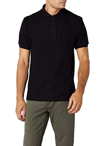 Fruit of the Loom Men's Heavy, 65/35 Polo Shirt, Black, X-Large